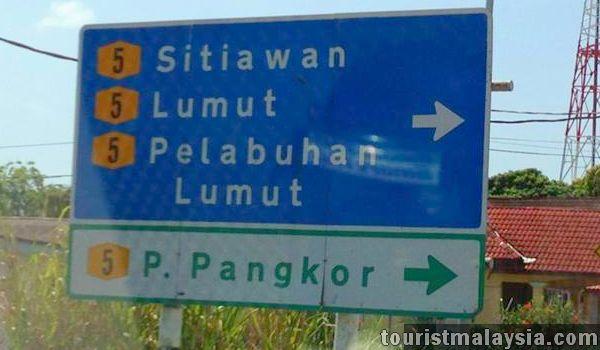 Pangkor Island Signboard