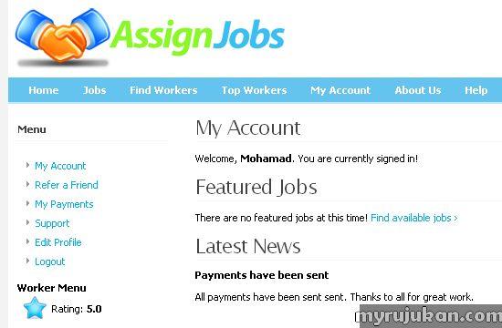 Assignjobs.com – Sebuah Laman Buat Duit Online Terbaru di Malaysia