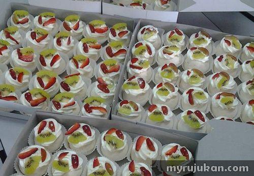 Resepi Kek Pavlova Cupcake Mini
