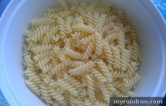 Resepi Spiral Pasta Beserta Sos Prego Carbonara Cendawan