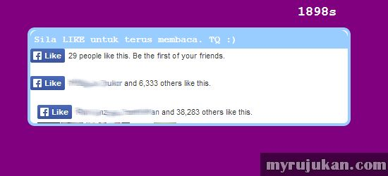 Cara Mengelak Facebook Like Popup Terpapar di Blog
