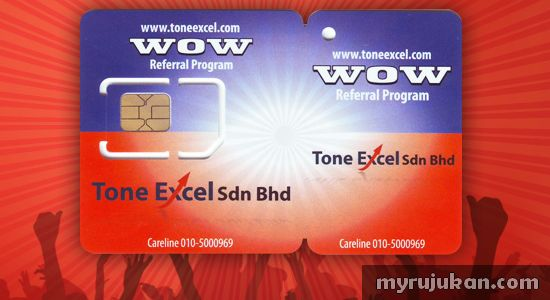 Kad Prepaid Tone Excel