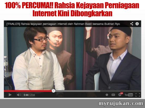 Tonton Video Rahsia Kejayaan Perniagaan Internet Oleh Rahman Basri