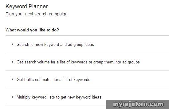 Tips Mudah Bagaimana Cara Menggunakan Google Keyword Planner