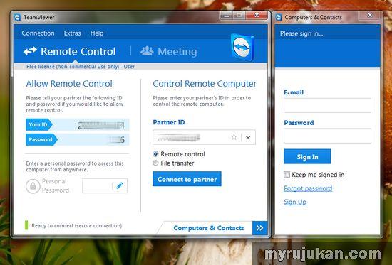 Melihat Dan Mengawal Desktop Dari Jauh Dengan Aplikasi TeamViewer