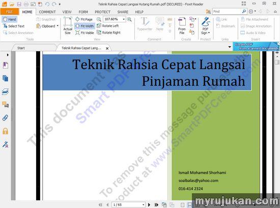 Membaca File PDF Ebook Dengan Foxit PDF Reader