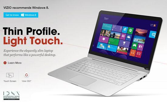 Vizio Thin + Light Touch With Windows 8