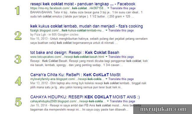 Bagaimana trafik masuk ke blog melalui Google