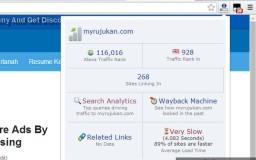 Alexa Rank With Alexa Toolbar at Chrome Browser