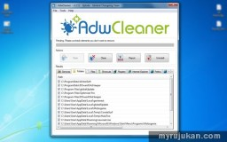 Buang Iklan Adware Dengan AdwCleaner