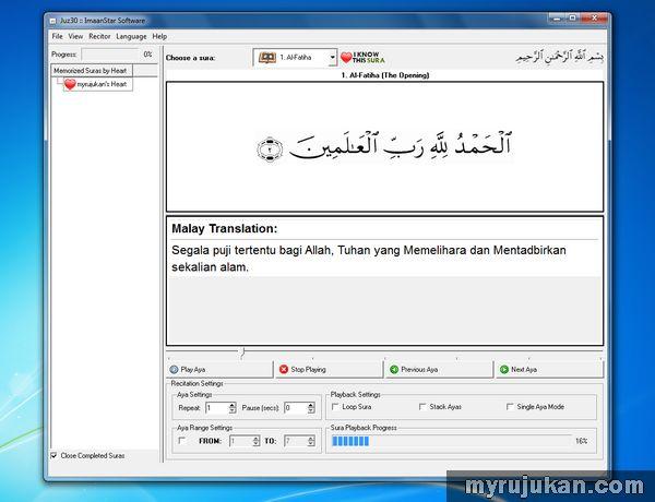 Software Al-Quran Player Percuma Terbaik Untuk Komputer