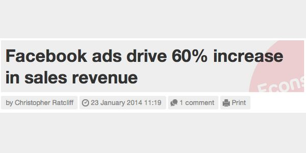 service like from Facebook Ads increase sales revenue