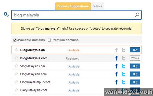Mencari Domain Yang Sesuai Dengan Domainsbot