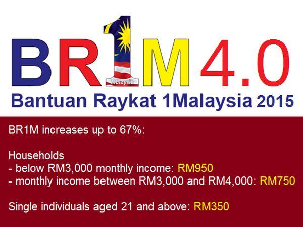 Bantuan Rakyat 1Malaysia 2015 - BR1M 4.0