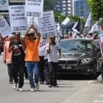 Hizbut Tahrir Malaysia Demo Tolak Obama 1