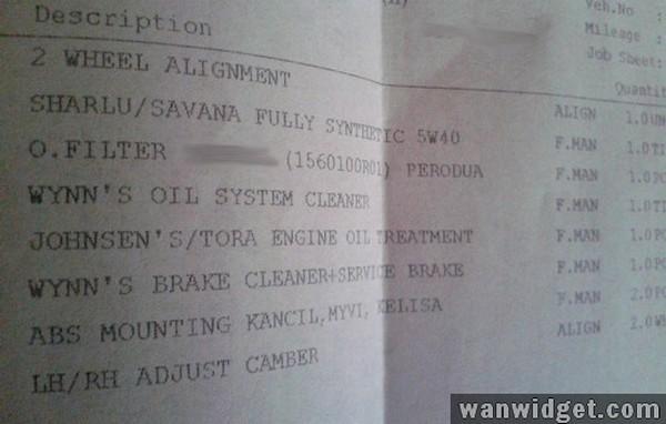 Berapakah Kos Servis Kereta di Pusat Servis Kenderaan