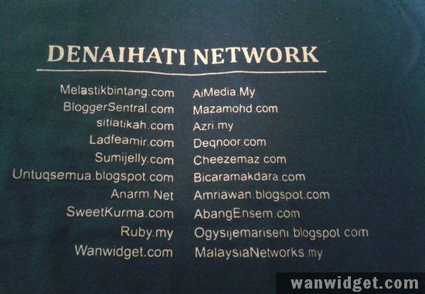 Kenangan Bersama T-Shirt Denaihati Network