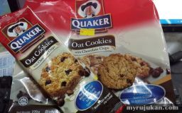 Biskut Oat Coklat Chip Dari Quaker