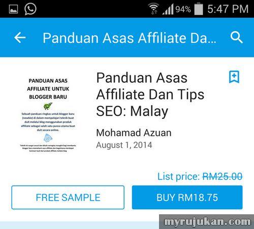 Menjual eBook di Google Play Store Malaysia