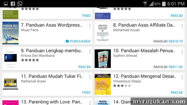 Menjual eBook di Google Play
