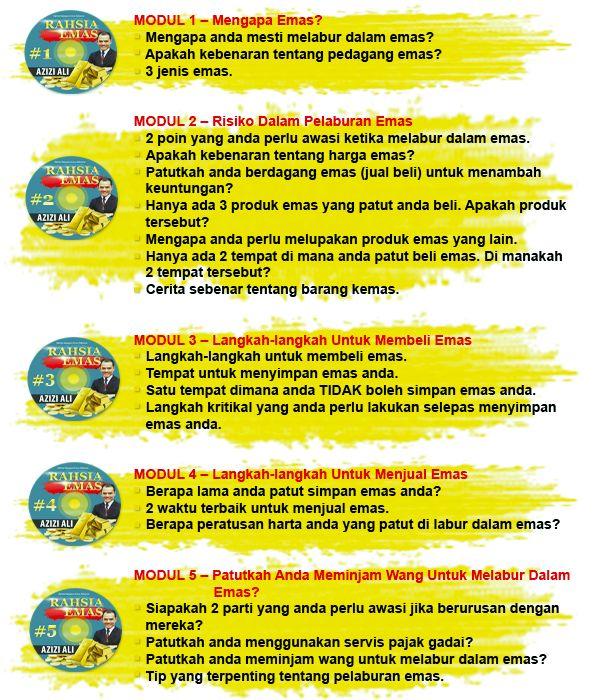 Modul Pelaburan Emas Malaysia Untuk Anda