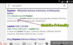 Notifikasi Mobile Friendly Pada Carian Google Mobile