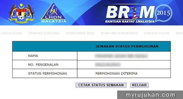Kemaskini Dan Semak Status BR1M Anda