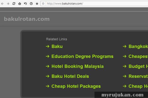 Laman web Bakul Rotan yang sudah tidak aktif offline