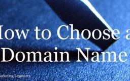 panduan ringkas memilih nama domain