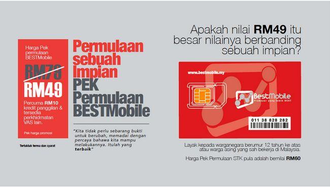Simkad BESTMobile Berharga RM49