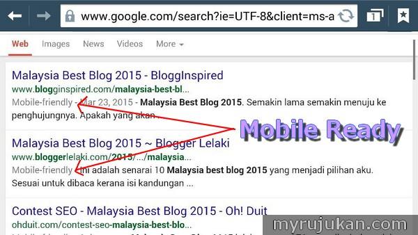Pastikan Blog Anda Mobile Ready Sebelum 21 April 2015