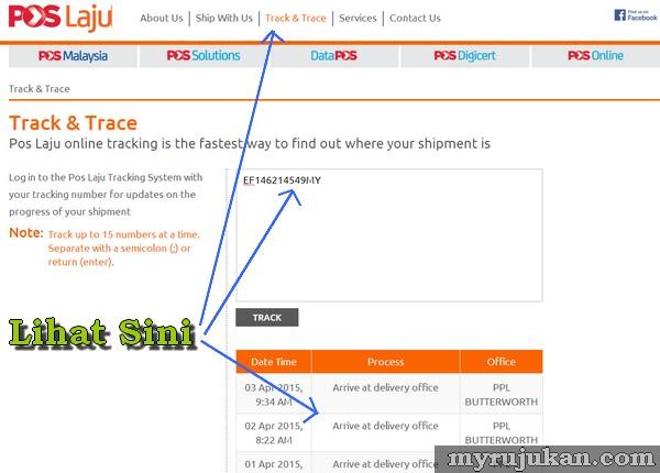track barang pos laju di website pos laju
