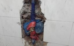 paip air bocor dalam dinding