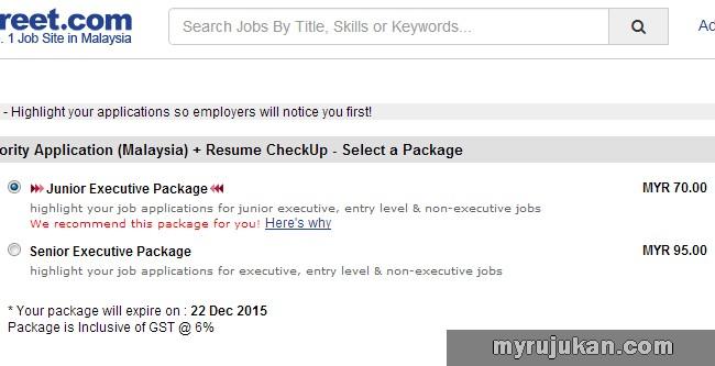 pakej Jobstreet berbayar untuk resume kerja