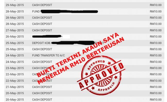 Program Dan Sistem Pelaburan Haram Hanya RM10 Sahaja