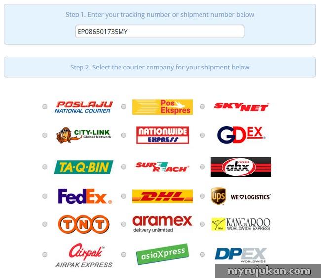 Cara Semak Delivery Parcel Barang Secara Online Mudah