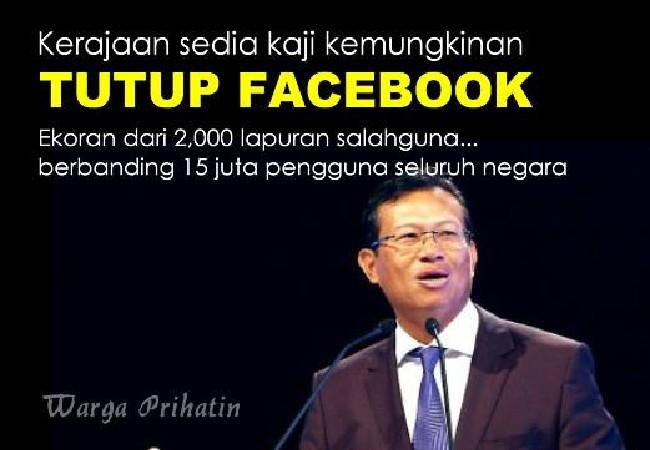 Backup Perniagaan Online Jika Facebook Di Tutup