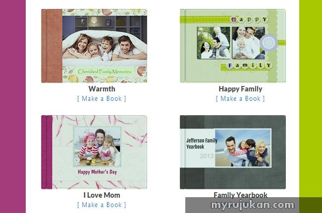 design album foto gambar sendiri di pixajoy online