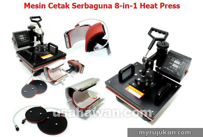 Perniagaan Printing Baju guna heat press