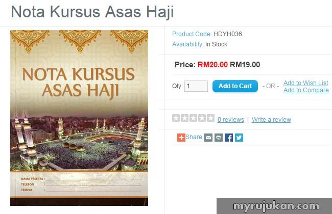 Beli Buku Kursus Asas Haji Secara Online
