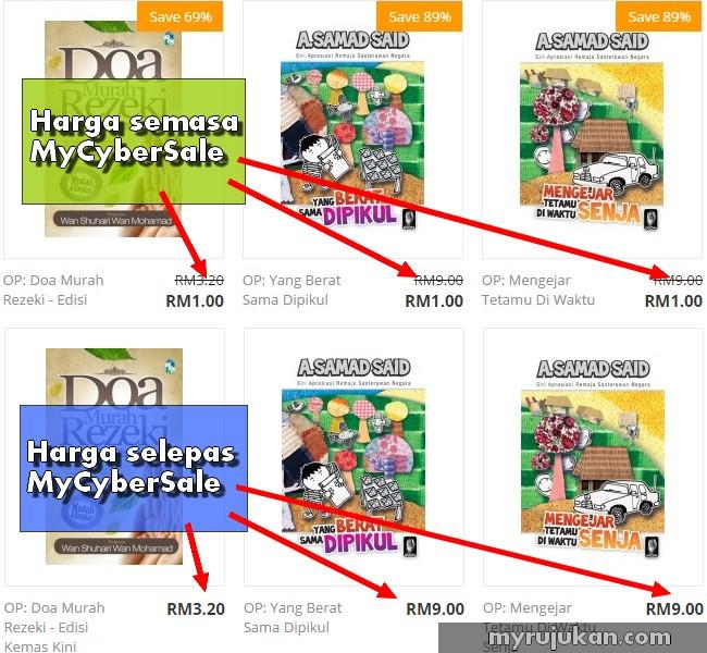 promosi harga diskaun ketika mycybersale Malaysia