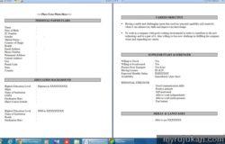 Resume kerja dalam format doc
