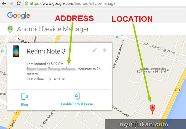 Cara mencari smartphone android hilang atau dicuri