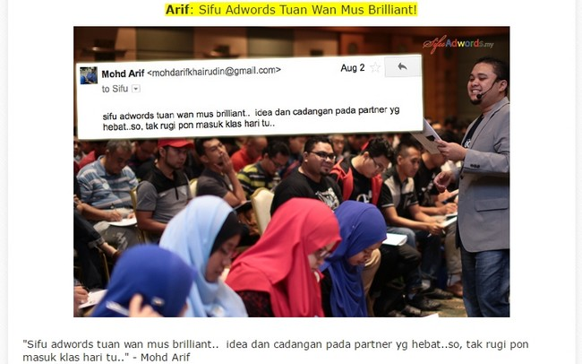 Seminar Google Adwords Malaysia Untuk Tahun 2017