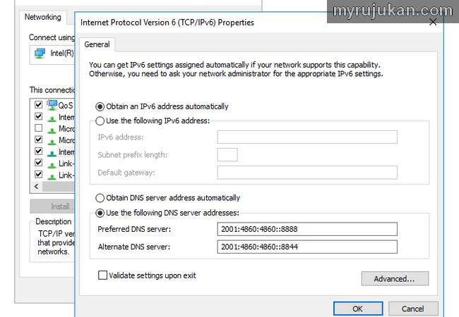 Masalah resolving host selesai dengan dns server Google