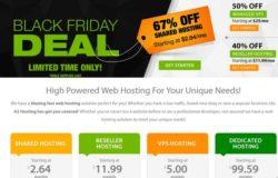 Promosi black friday A2Hosting iaitu web hosting luar negara