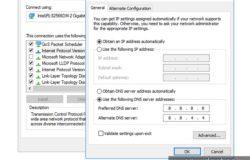 dns server address Google untuk IPv4