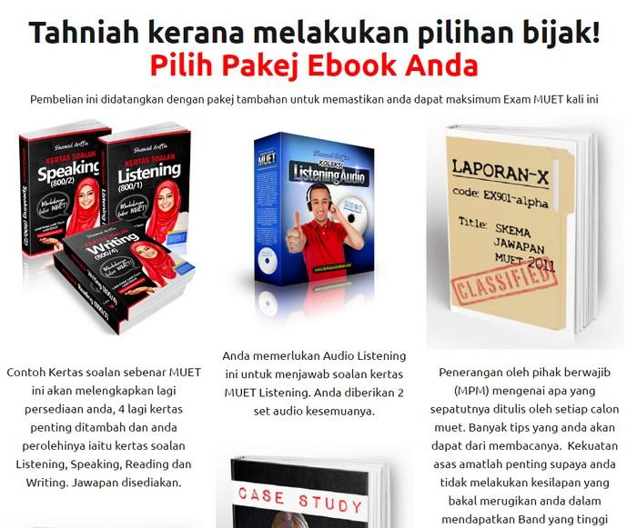 Pakej ebook dan buku persediaan exam muet dalam bahasa melayu