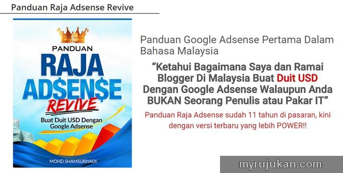 Rujukan google adsense terbaru versi terkini