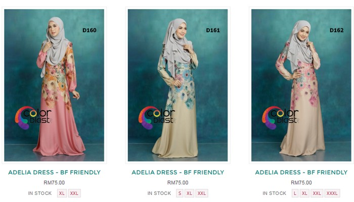 Adelia Dress baju kurung ColorBlast